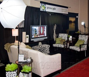 Fabulous 'Staged' Booth at Calgary Tradeshow