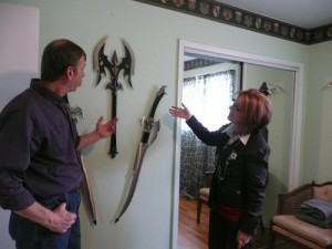 Roger Telling me about his swords