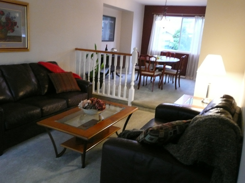 Buyers are invited into this 'now' living room and can see their furniture here!
